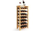 Langria Casier à vin de 28 bouteilles étagères de rangement debout sur 7 niveaux
