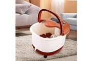 Acevivi Pied spa bain masseur rouleaux de massage automatique seau chauffe soaker brun
