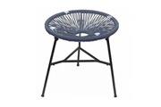 Maisonetstyles Table ronde 50 cm bleu et noir avec plateau en verre - scouby