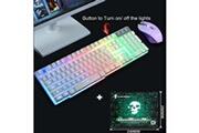 Generic Ensemble clavier et souris de jeu ergonomique rétroéclairé arc-en-ciel t6 pour ordinateur portable pc clavier 267