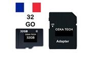Ceka Tech Carte mémoire compatible avec sony xperia l3 , ceka tech® micro-sd 32go classe 10 avec adaptateur sd