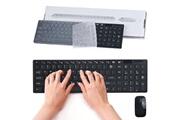 Generic Luxe ultra slim mini 2.4g clavier sans fil optique kit souris pour pc portable clavier 38
