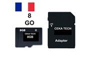 Ceka Tech Carte mémoire compatible avec sony xperia l3 , ceka tech® micro-sd 8go classe 10 avec adaptateur sd