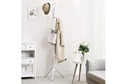 Corner-auto Usinedistrib porte-manteau en métal vêtements chapeau chapeau sac à main cintre hall tree blanc 182 cm rcr19w