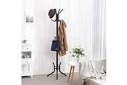 Corner-auto Porte-manteau élégant avec support en métal usinedistrib, 15 crochets, 176 cm, noir rcr17b