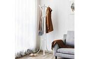 Corner-auto Usinedistrib manteau heavy duty chapeau porte-manteau vêtement manteau arbre 9 crochets métal, 176 cm blanc rcr01w