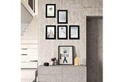 Corner-auto Usinedistrib ensemble de 5 cadres photo, 4 x 6 (10 x 15 cm), fenêtre en verre, mdf e1, noir, rpf35bk