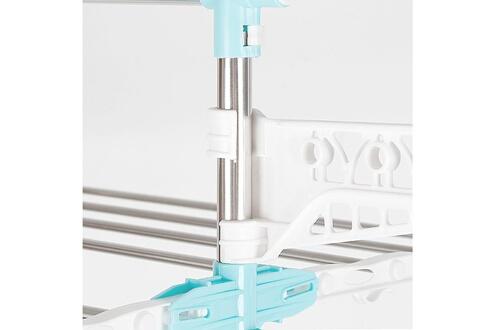 Mallory Multifonction étendoir séchoir à linge grande capacité avec 3 niveaux pliable hauteur 150cm vert/blanc