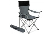 Helloshop26 Lot de 2 chaises pliante camping + housse grise helloshop26 2008038