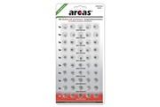 Arcas Pack de 50 piles bouton ag1-ag13 0% mercury/hg