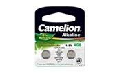 Camelion Pack de 2 piles camelion alcaline ag8,lr1120,lr55,191,sr1120w,gp91a,391 0% mercury/hg