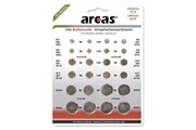 Arcas Pack de 24 piles bouton arcas ag1 till cr2032 0% mercury