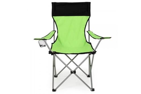 Helloshop26 Lot de 2 chaises pliante camping + housse verte helloshop26 2008039