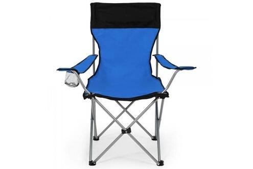 Helloshop26 Lot de 2 chaises pliante camping + housse bleu helloshop26 2008040