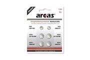 Arcas Pack de 6 piles bouton arcas ag3-ag13 0% mercury/hg