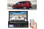 Coocheer 7 pouces écran télécommandé écran rétractable écran tactile lecteur mp5
