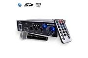 Ltc Audio Amplificateur noir karaoke hifi 100w usb/bluetooth/sd + microphone noir/silver