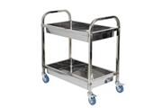 Mallory Desserte chariots de service cuisine avec roulettes meuble de rangement 2 niveaux en inox l85 x l45 x h90cm
