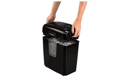 Dealmarche Déchiqueteuse de papier coupe fine fellowes 8mc 14 l 3 x 10 mm noir