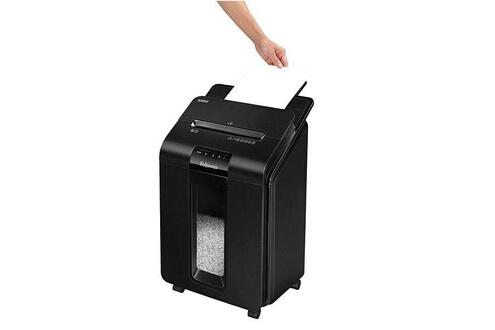 Dealmarche Déchiqueteuse de papier coupe fine fellowes automax100m noir