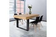 Idmarket Table à manger phoenix 160 cm bois et noir
