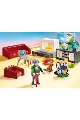 PLAYMOBIL Playmobil 70207 - dollhouse - salon avec cheminée