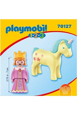 PLAYMOBIL Playmobil 70127 - 1.2.3 - princesse et licorne