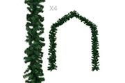 GENERIQUE Décorations de noël et saisonnières reference sri jayawardenapura guirlandes de noël 4 pcs vert 270 cm pvc