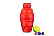 Euroweb Shaker transparent coloré (300 ml) - shaker pour cocktail couleur - bleu
