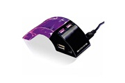 Euroweb Multiplicateur usb 4 ports led avec lumiere led multicolore couleur - noir