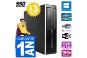 Hp Pc hp compaq 6200 pro sff intel i3-2120 ram 16go ssd 120go windows 10 wifi