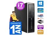 Hp Pc hp compaq 6200 pro sff intel i7-2600 ram 4go disque dur 250go windows 10 wifi