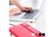 Euroweb Bloc-notes à couverture rigide avec clé usb 8go (80 volets) - carnet couleur - rouge