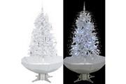 GENERIQUE Décorations de noël et saisonnières collection vatican arbre de noël neigeux avec base de parapluie blanc 170 cm