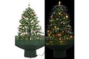 GENERIQUE Décorations de noël et saisonnières ensemble ankara arbre de noël neigeux avec base de parapluie vert 75 cm