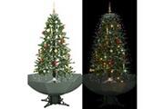 GENERIQUE Décorations de noël et saisonnières reference port-vila arbre de noël neigeux avec base de parapluie vert 170 cm