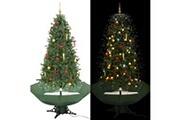 GENERIQUE Décorations de noël et saisonnières edition caracas arbre de noël neigeux avec base de parapluie vert 190 cm