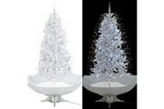 GENERIQUE Décorations de noël et saisonnières famille hanoï arbre de noël neigeux avec base de parapluie blanc 190 cm