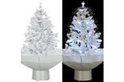 GENERIQUE Décorations de noël et saisonnières serie funafuti arbre de noël neigeux avec base de parapluie blanc 75 cm