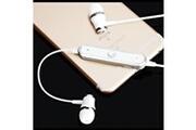 Shot Case Ecouteurs bluetooth anneau pour smartphone samsung, huawei, sony, etc sans fil telecommande son main libre intra-auriculaire uni (blanc)