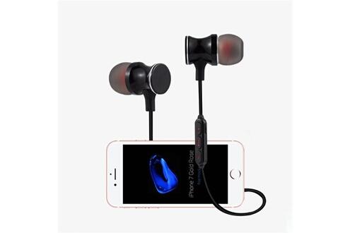 Shot Case Ecouteurs bluetooth metal pour smartphone samsung, huawei, sony, etc sans fil telecommande son main libre intra-auriculaire univ (or)