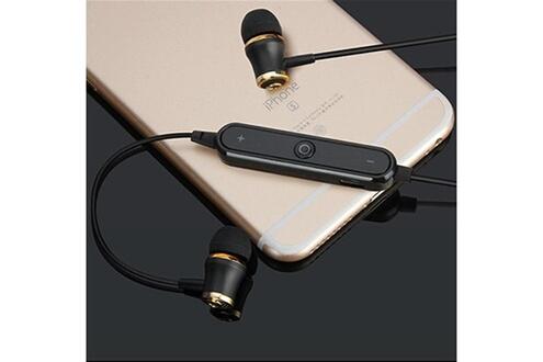 Shot Case Ecouteurs bluetooth anneau pour smartphone samsung, huawei, sony, etc sans fil telecommande son main libre intra-auriculaire universe (noir)