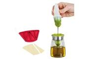 Kitchen Artist Pinceau silicone avec bol en verre + moule emporte pièces pour croissants
