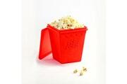No-name Superbe pot à pop-corn en silicone trendy pop rouge