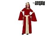 Euroweb Déguisement pour fillette dame médiévale - costume rouge taille - 10-12 ans