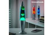 Euroweb Lampe à lave magma avec ampoule aux couleurs chaudes - liquide decoration originale couleur - rouge