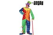 Euroweb Costume pour adulte clown multi couleurs - déguisement drole