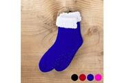 Euroweb Paire de chaussettes d'hiver à semelles antidérapantes - taille unique couleur - fuchsia