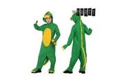 Euroweb Déguisement enfant dinosaure - costume vert et jaune taille - 3-4 ans
