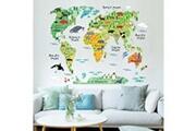Generic Animaux mur carte du monde autocollants chambres d'enfants chambre décor home living coloré sticker 1559